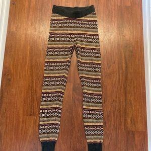 3/20$ Roots ladies xs tribal print leggings